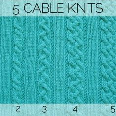 Five Cable Knits