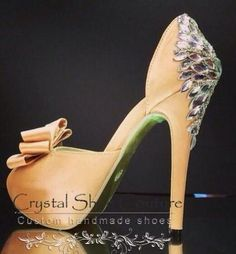 Ashleigh Various heel heights available Open or closed toe  www.crystalshoecouture.com