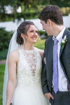 The neckline is the best part on Lisette. #MaggieSottero #mylovestory #Maggiebride #classicweddings #beadedgown #ballgowns