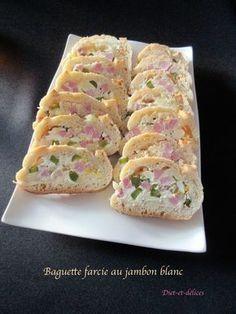 Baguette farcie au jambon blanc
