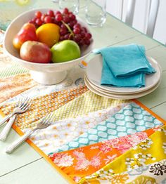 Sewn Patchwork DIY Table Runner from Country Woman Magazine