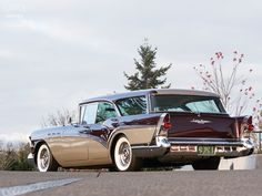 1957 Buick Special Estate Wagon.  What a great cross country touring car this would be.