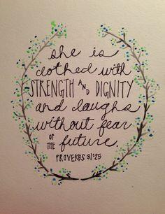 proverbs 31 25 - Google Search