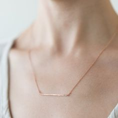 Necklace from Magnoila. I'm not a huge jewelry person, but this is super pretty! Elli Jewelry, Rose Gold Jewelry, Dainty Jewelry, Cute Jewelry, Modern Jewelry, Jewelry Box, Jewelry Accessories, Jewlery, Rose Gold Chain