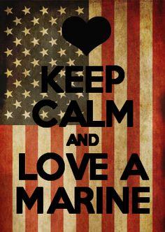 KEEP CALM AND LOVE A MARINE Marine Girlfriend Quotes, Marine Corps Quotes, Military Girlfriend, Military Mom, Us Marine Corps, Usmc Quotes, Girlfriend Gift, Usmc Love, Marine Love