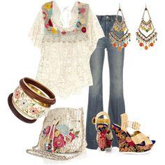 Estilo Hippie Chic, Hippy Chic, Boho Chic, Hippie Boho, Bohemian, Classy Outfits, Beautiful Outfits, Cute Outfits, 70s Fashion