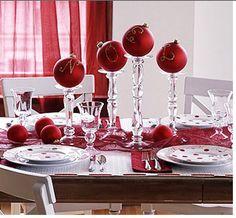 Christmas Table Centerpieces Interior Designer in Charlotte - Interior Decorator - Laura Casey Interiors