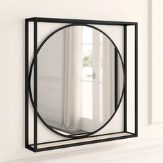 Polaris Large Framed Wall Mirror & Reviews | Joss & Main Traditional Wall Mirrors, Mirror Words, Circular Mirror, Double Frame, Mirror With Shelf, Simple Centerpieces, Light And Space, Round Mirrors