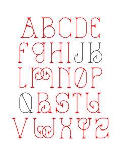 La Dame de Coeur by Patrick Seymour Hand Lettering Alphabet, Doodle Lettering, Creative Lettering, Lettering Styles, Typography Letters, Bullet Journal Font, Journal Fonts, Journaling, Letras Cool