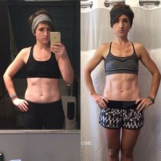 #mondaymotivation My 6 month transformation from when I FULLY COMMITTED to my first at-home program and then KEPT GOING!  .. .. On January 9th my first Challenge Group for 2017 is officially starting and I am SO EXCITED!!! (There is still time to join us if you want IN!!) I love kicking ass in the winter months because then I am READY for spring and summer!!  .. .. How did I get these results? I didn't cut corners I pushed play 5 days a week for just 30 minutes. I ate clean (with treats)! I…