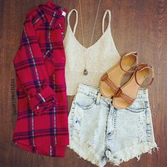 No Problem Flannel Top #ootd BTW This Is Re-Pinned. Psst. Follow Meh!