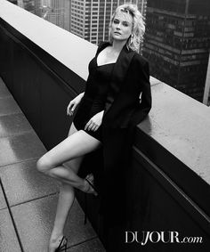 Diane Kruger poses in Celine coat Dolce & Gabbana bodysuit Christian Louboutin heels and Van Cleef & Arpels earrings Diane Kruger, Pin Up, Natasha Poly, Photoshoot Pics, Jack Nicholson, Poses, Portraits, Mannequin, Sexy Legs