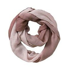 Gauze Fade Infinity Scarf by Blue Pacific Fashion - The 100% cotton scarf with a cool dip-dye effect that wraps you up in infinite softness. $38