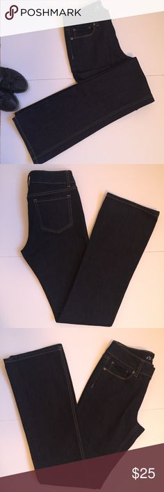 """Victoria's Secret Hipster Bootcut Jeans Victoria's Secret Hipster Bootcut Jeans in dark blue. Stylish and practical. VS Love collection. 35"""" inseam. 44"""" waist to hem. 9"""" leg opening. 5 pocket style. Excellent condition. Victoria's Secret Jeans Boot Cut"""