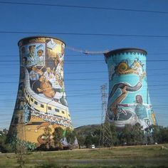 Twin Towers of Soweto , Johannesburg - SA African Life, Unusual Homes, Majestic Animals, Out Of Africa, My Secret Garden, Beautiful Landscapes, South Africa, Tourism, Street Art