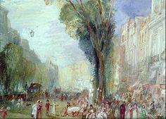 Le boulevard des Italiens par Joseph Mallord William Turner 1832 ©