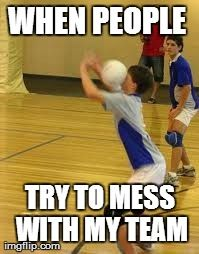 if your a volleyball player and you have not been hit in the head then your very lucky #funny