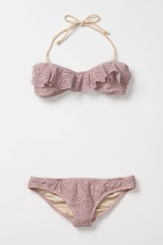 Dusty Purple Crochet Bandeau...if I were to ever again wear a two piece this is awesome