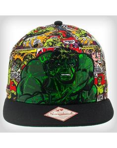 985039cb The Hulk Color Comic Snapback Hat Gag Gifts, Funny Gifts, Party Lights,  Custom