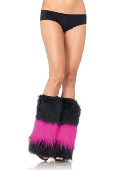 Woven Lurex Bell Bottom Leg Warmers w//Pom Pom Ties Adult Costume Accessory