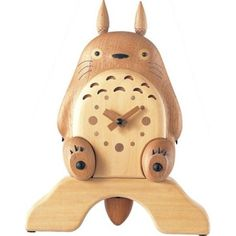 My Neighbor Totoro - Natural Wood Clock - Best Buy Japanese Products at Jzool.com