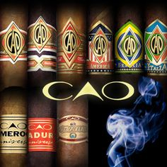 CAO Cigars - CAO cigars is regarded as one of the top premium cigar brands in the world.  Among their many successes is the CAO Italia Noverlla cigars that was awarded a 91 (OUTSTANDING) rating by Cigar Aficionado. MY FAVORITE BRAND