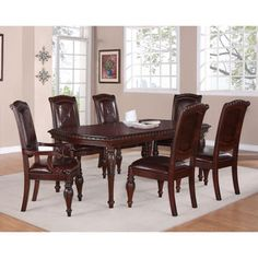 """Addison 7-Piece Dining Set with 84"""" Table"""