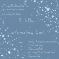 Ombre Starry Night Wedding Invitation From Envelopments Night