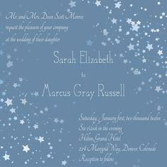 Ombre Starry Night Wedding Invitation From Envelopments Night