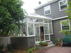 small conservatory at a home in Minneapolis