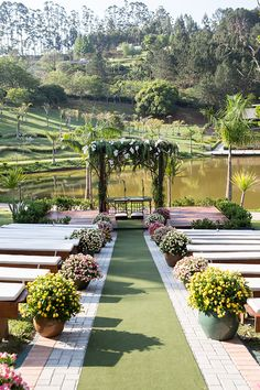 beautiful garden wedding design ideas and decor 14 Wedding Ceremony, Wedding Venues, Wedding Photos, Wedding Designs, Wedding Styles, Garden Wedding, Dream Wedding, Modern Groom, Outdoor Wedding Decorations