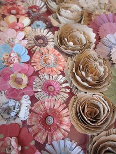 paper flowers by littlethings1, via Flickr.  Beautiful example of what paper flowers CAN look like