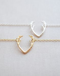 Antler Necklace | Olive Yew for ear cuffs, custom jewelry and rose gold necklaces