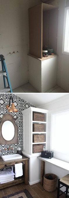 the best and gorgeous small bathroom remodel / remodeling / remodels designs ideas makeovers before and after for big or small spaces, on a budget, decorating ideas