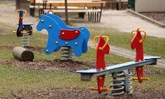 Playground Equipment Stands Without Children