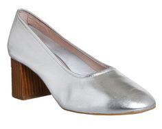 Office Mia block heel ballet heels, Silver                              …