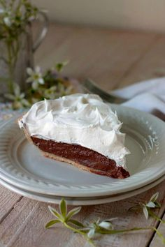 """""""Ive made this pie twice in as many weeks. Each time I made it, it was gobbled up in an instant. My husband ,who is not one to crave chocolate, ate half the pie in one setting. I hate that he can do that and not gain an ounce. The chocolate filling nestled in an all butter crust and topped with a whipped topping is to die for.I absolutely love being able to make recipes with what Ive already got on hand in my pantry. After I made and baked the butter crust and let it cool, it was just a…"""