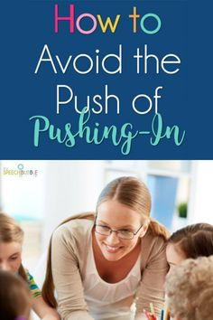 How do I use the push-in model and target each kids' individual goals? And how do I do it without feeling useless in the classroom? Check out the blog to find out HOW! #ideas #speech #therapy #OT #language #developement #SPED #SLP #SpEd #students #BackToSchool