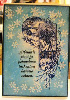 joulukortti vuodelta 2012