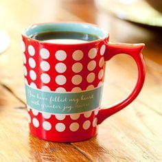 Polka Dot Mug, Psalm 4:7  -
