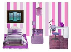 """Purple room"" by jazzylou ❤ liked on Polyvore featuring interior, interiors, interior design, home, home decor, interior decorating, HARLEQUIN, Victoria Classics, The Big One and F.J. Kashanian"