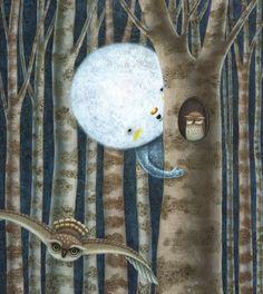 Pinzellades al món: Il·lustracions de la lluna / Ilustraciones de la luna / Illustrations of the moon