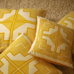 Native Quilt Pillow, Maize/Dijon