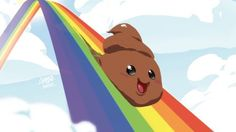 Mood poo joy rainbow HD Wallpaper