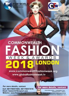 FOW 24 NEWS: COMMON WEALTH FASHION WEEK & AWARDS.........FOW24N...