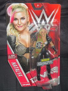 Natalya WWE Series 61 Mattel Divas Basic Chase Figure-NIB VHTF w/WWE Champ Belt #Mattel