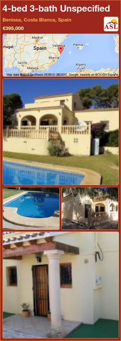 4-bed 3-bath Unspecified in Benissa, Costa Blanca, Spain ►€395,000 #PropertyForSaleInSpain