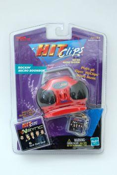 Tiger Hit Clips Rockin Micro Boom Box NSync Bye Bye Bye - Hasbro Factory Sealed  #Hasbro