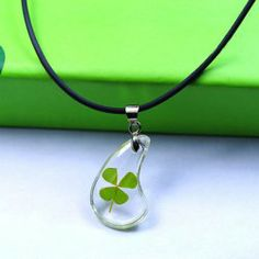$4.52 Chic Clear Four Leaf Clover Necklace For Men