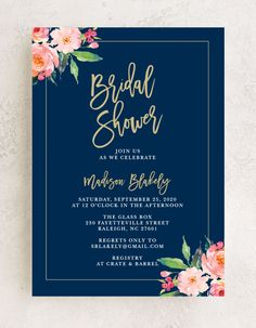 The Standing Ovation Foil Bridal Shower Invitations feature beautiful watercolor flowers on the corners of this gorgeous design. A gold foil border and text make this card special. Choose from more than 160 color options, over 100 distinctive fonts, and editable text to transform your chosen template into the invitation of your dreams. #cutebridalshowerinvitation #floralbridalshowerinvitation #goldfoilweddingshowerinvitation Bridal Party Invitations, Custom Invitations, Invites, Flower Cake Decorations, Wedding Trends, Wedding Ideas, Standing Ovation, Summer Wedding Colors, Save The Date Cards